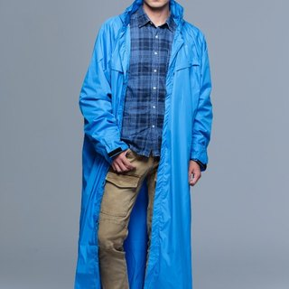 Paris - French rainbow simple coveralls raincoat / motorcycle raincoat / fresh blue