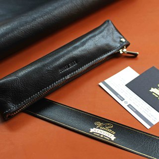 VULCAN Goatskin leather fine grain kangaroo leather / goatskin triangle pencil case