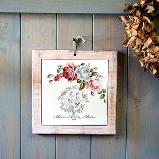 Rustic Style bone china insulation pads - flower dance