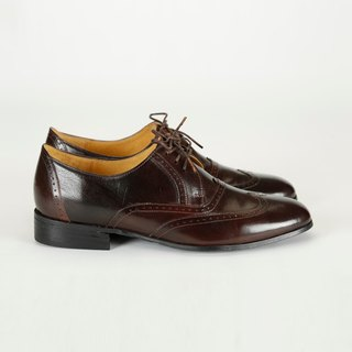H THREE Derby shoes / dark brown / flat / Derby