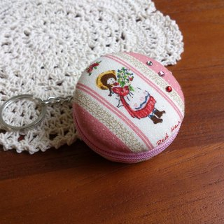 Chomii. Macaron CHARM zipper purse jewelry box pink doll