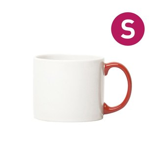 Jansen + co-style color cup - white + red