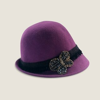 Korakuen Korakuen*Butterfly Girl*purple felt hat
