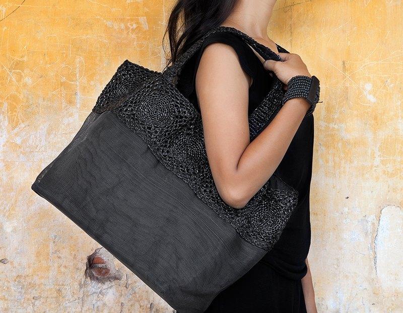 SMATERIA- RAVE/B57N  時尚黑肩背購物包