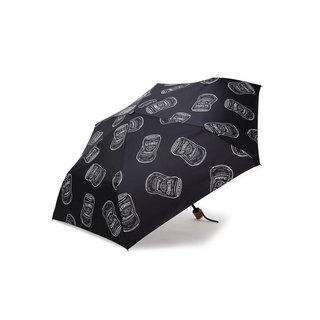 Filter017 Whiskey Can Pattern Distorted Wine Tank Pattern Folding Umbrella