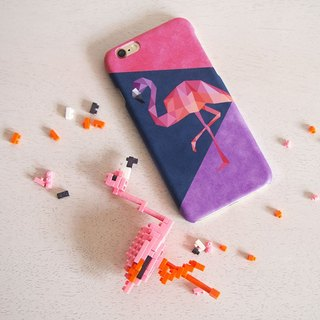 Geometric Flamingo iPhone case