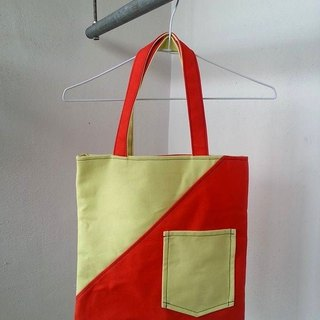 [No Ink] Reversible Carrier Bag- midday (handbags)