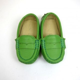 Fort Tony Wang leather handmade shoes kids [sheep / bean bottom / green apple West] ★ ★ Recommended section play
