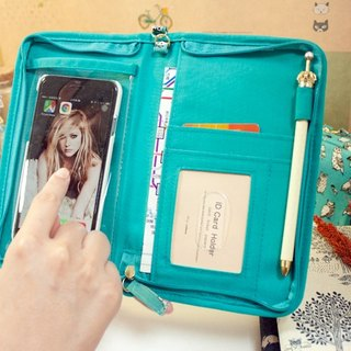 [花布恋Fabric Series] slideable mobile phone zipper bag (large)