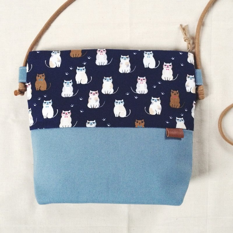 Small oblique backpack - Cats