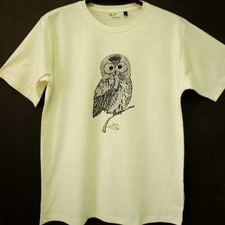 Metallurgical green organic cotton short-sleeved neutral [owl]