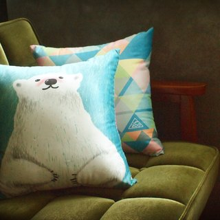 / Animal friends / Great Pyrenees afternoon peace of pillow square pillow containing