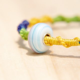/ Valentines Day gift / colorful hand-woven rope twist silk wax lines - gradient sky glass (wires can pick the color)