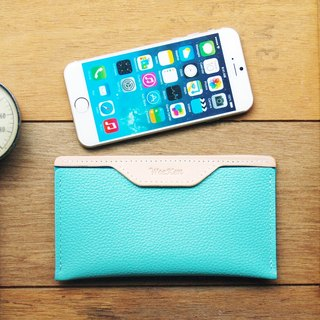 weekenlife - Leather Phone Case for iPhone 6/7/8 ( Custom Name ) - Tiffany Blu