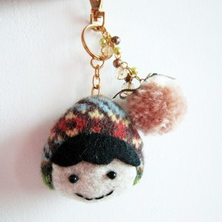 Green countryside doll Straps / Key Chains