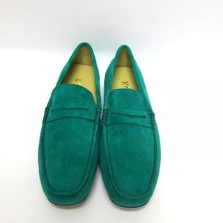 Fort Tony Wang handmade leather shoes (M) [matte / rubber-soled / green]