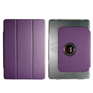 Optima iPad 2018/17 360 flat protective shell linen purple