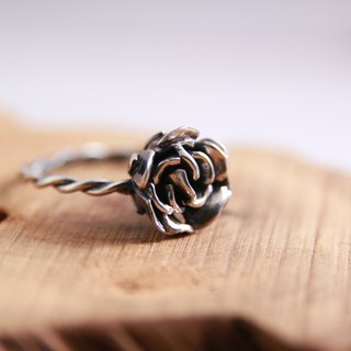 Sterling Silver Ring / Rose