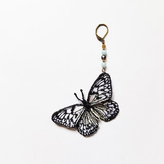Embroidery Butterfly Earring / Paper Kite Butterfly
