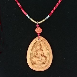 There bless pray for the health of the gift ㊣ India Laoshan sandalwood Body necklace - Pharmacist Buddha (Chinese knot necklace section)