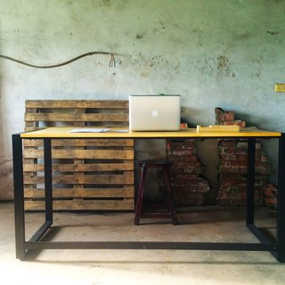 【TAB】 Log Desktop Work Table / Customized / Industrial Wind / Desk / Desk / Wencuang / Solid Wood / Hand
