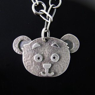 Ark Series --- Bear Silver Necklace