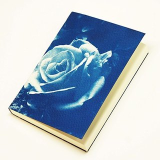 Handmade cyanotype notebook - Mystic Rose