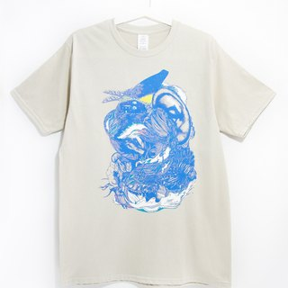 Men's Fitted Cotton illustration Tee / T-shirt - Ocean Journey