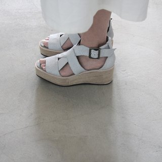 ZOODY / landing thick bottom / handmade shoes / thick strap sandals / white