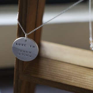 Qiaozi Sterling Silver - custom necklace -22mm circular letters & numbers