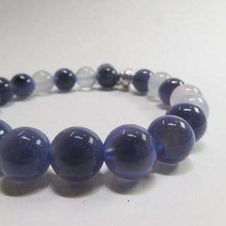 Here and Now - All Natural Purple Chalcedony x Blue Chalcedon x Pink Chalcedony 925 Silver Hong Kong Original Design