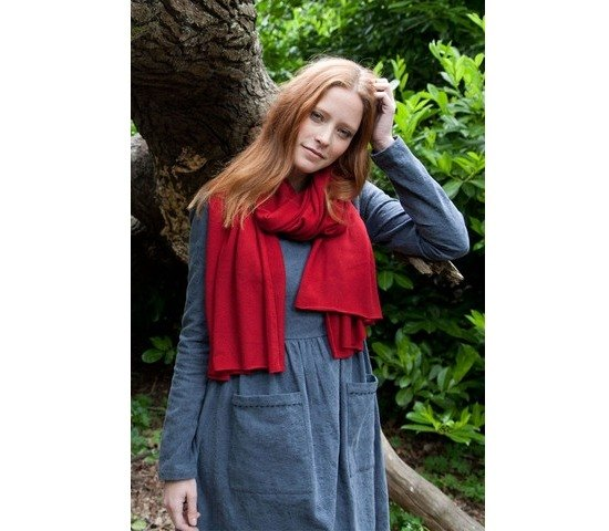 Red Cashmere Wrap