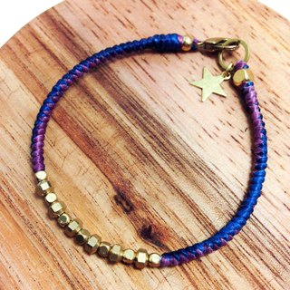 Galaxy Fly Me to Polaris. Simple series ◆ Sugar Nok ◆ wax line bracelet brass