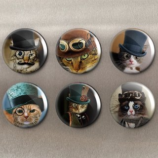 Detective Cat - Magnet (6 in) / Badge (6 in) / Birthday Gift [Special U Design]