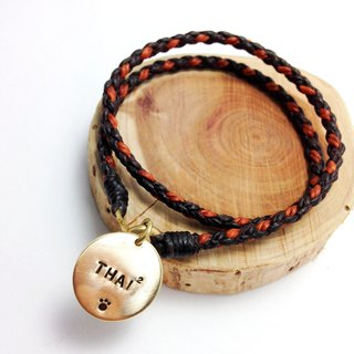 Deep wild autumn. Bifilar section [Customization] hand typing along licensing Plus + series ◆ Sugar Nok ◆ wax line bracelet brass