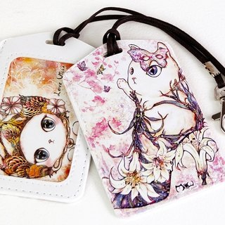 Good meow Universal Card Case - lily flower heels cat
