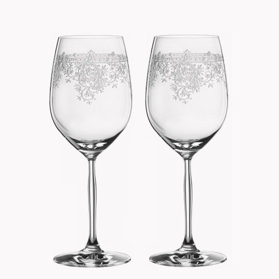 (a pair of price) 425cc [Germany SPIEGELAU] retro art white gold crystal cup wedding gift custom