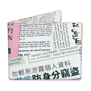 Mighty Wallet(R) 紙皮夾_Newsprint