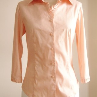 Small flounced sleeve shirt - Deep Fenju