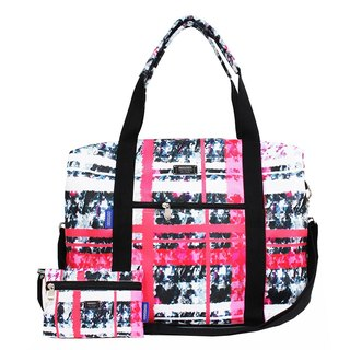 COPLAY  travel bag-pink plaid sweet heart