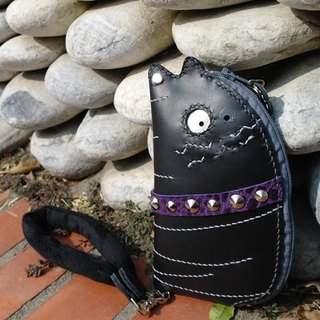 Rock Cats purple hand-sewn leather phone 140 119