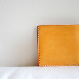 Hand Stitched Light Brown Leather Basic Wallet