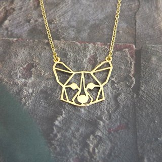 Corgi, Geometric, Dog Necklace, Corgi Jewelry, Pet memorial, Pet gifts