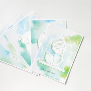 Set of five DIY  postcards with discounted price