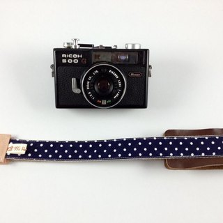 Hand-made monocular Class SLR camera strap decompression Camera back rope --- dark blue little money