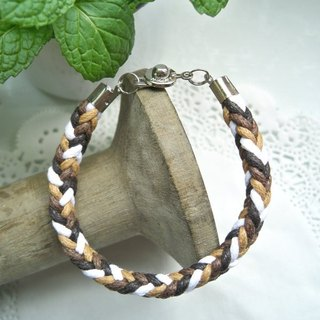 Three-dimensional bracelet - caramel latte - 1
