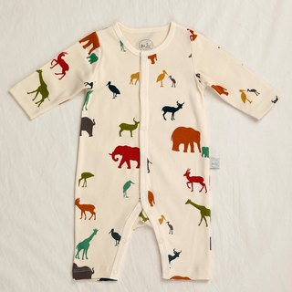 gujui love animals - organic cotton long-sleeved one-piece dress
