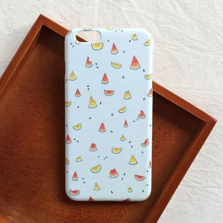 Summer Yan Yan Hand-painted Watermelon Mobile Shell Hard Shell iPhone Android