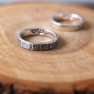 <Engraving Accepted> Sterling Silver Ring / Hammered