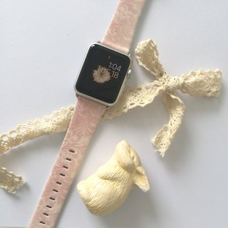 Apple Watch Series 1 , Series 2, Series 3 - Pink Floral Pattern Watch Strap Band for Apple Watch / Apple Watch Sport - 38 mm / 42 mm avilable